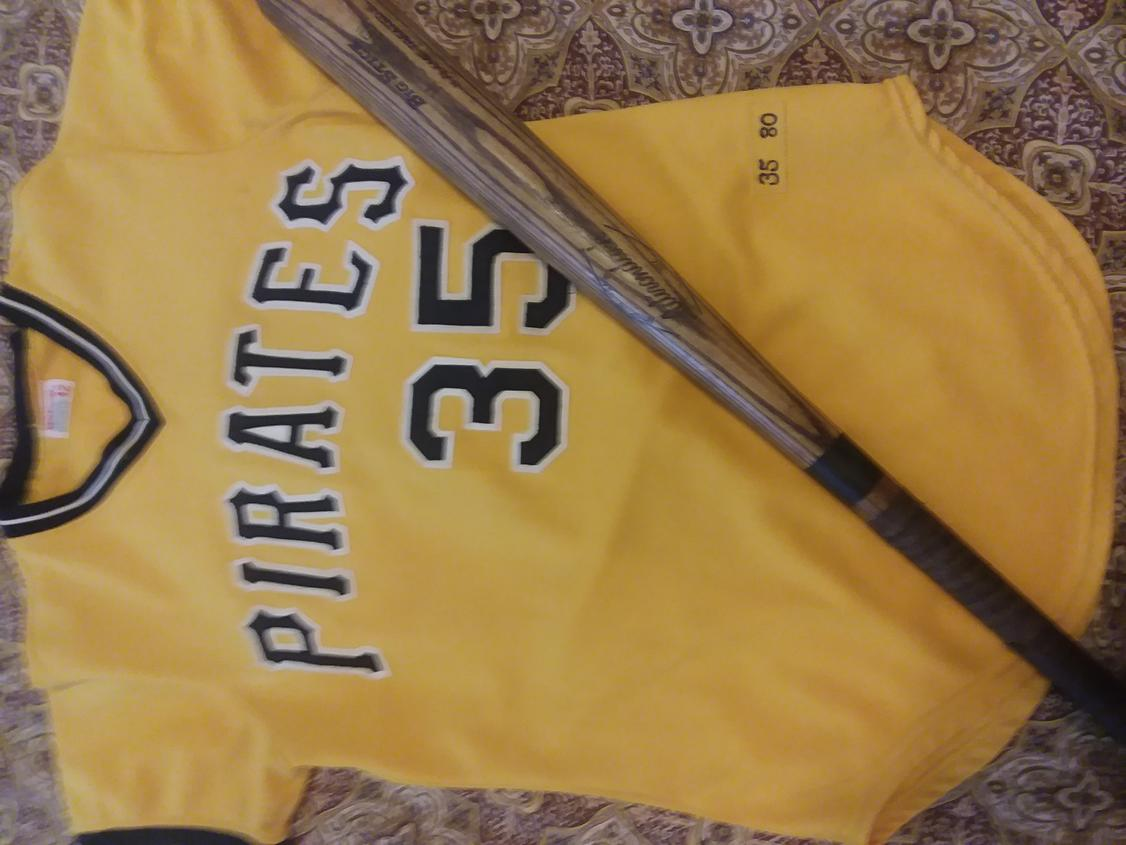 Name:  Manny Sanguillen Pirates 1980 Gold front ADIRONDACK bat.jpg
